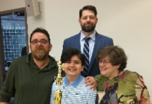 Parker Pacifico, winner of this year's Tri-County Spelling Bee!