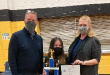 Lily Waters, Winner of the 2021 Lake-Geauga County Spelling Bee