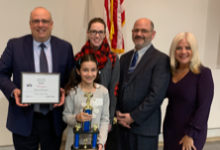 Alicia Elyassi, winner of the 37th Annual Lake County Spelling Bee