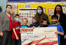 STARS Classroom at Jordak Elementary accepts donation from Preston Superstore