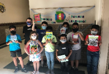 Summer Sidekick students received a free book from the Cleveland Kids' Book Bank