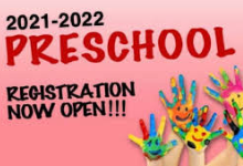 2021-2022 Preschool Registration is now open