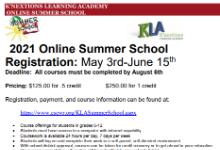 kla summer school flyer