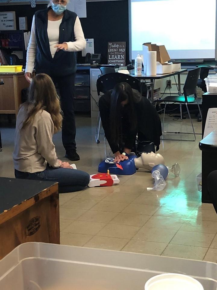 Preschool Staff attending CPR training