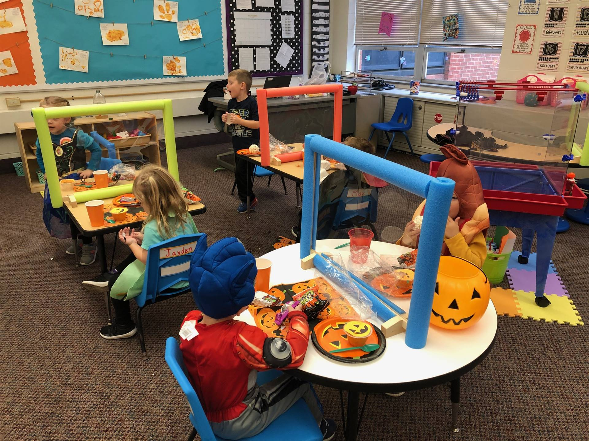 Perry Preschool students enjoying their Halloween Party!