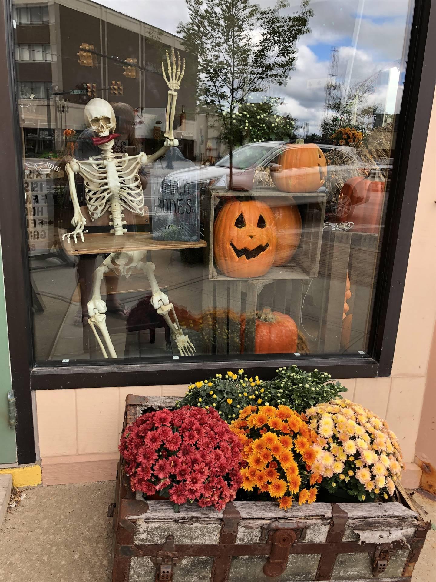 Unique Like Me Store Front Halloween Window Display