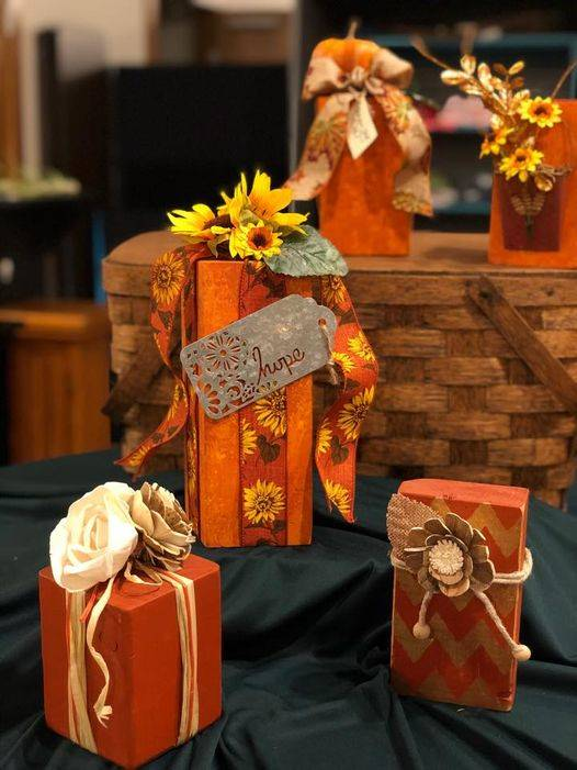 fall decor items pictured for sale at our Unique Like Me Store