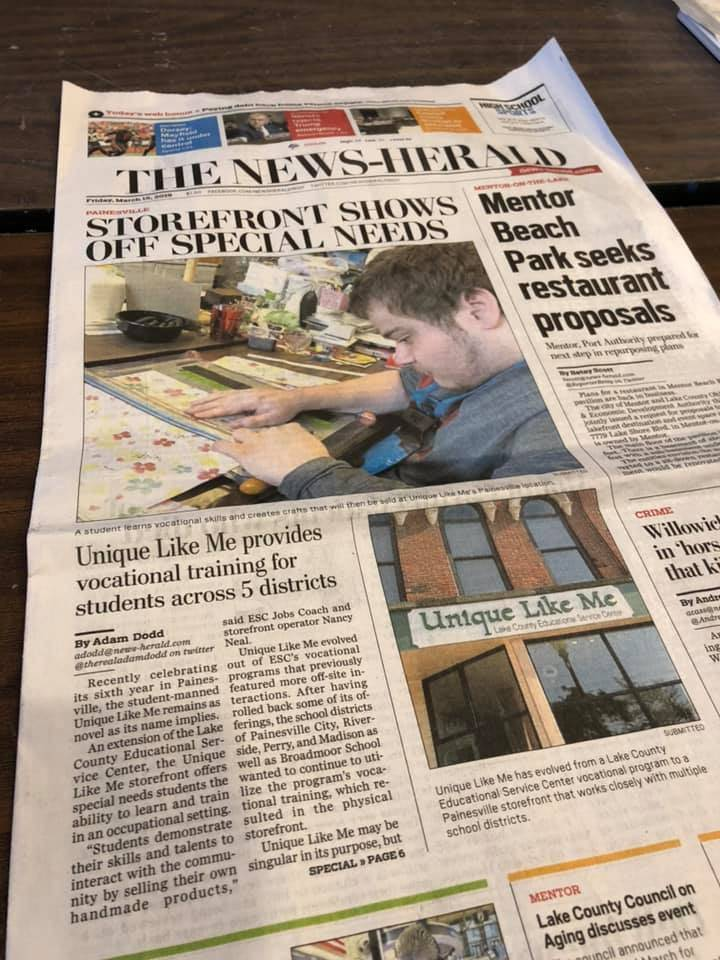 Unique Like Me was featured in the News Herald