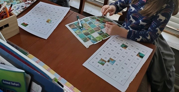 Stickers and number matching