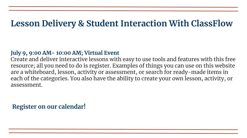 Lesson Delivery & Student Interaction With ClassFlow
