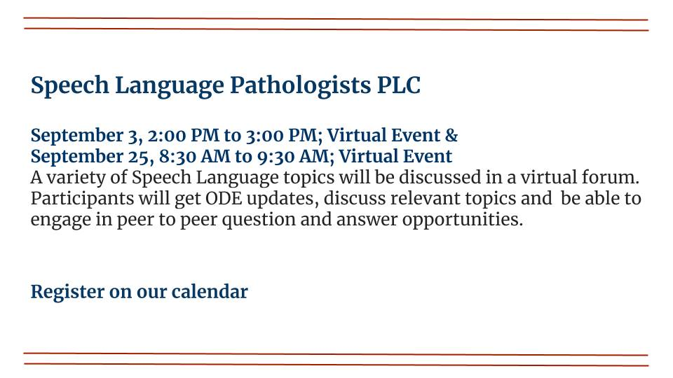Speech Language Pathologist PLC