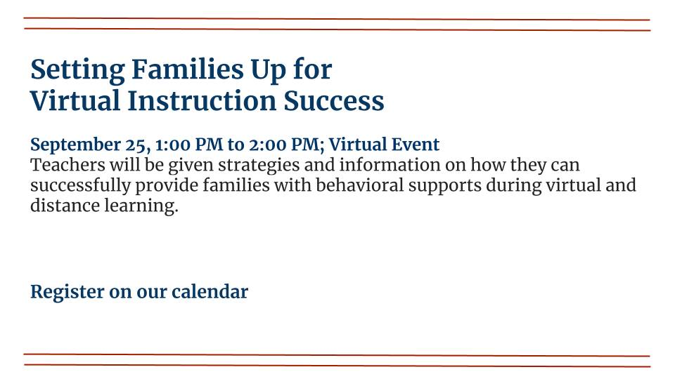 Setting Families Up for Virtual Instruction Success