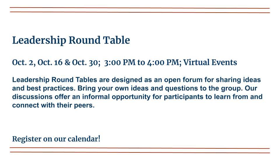 Leadership Round Table