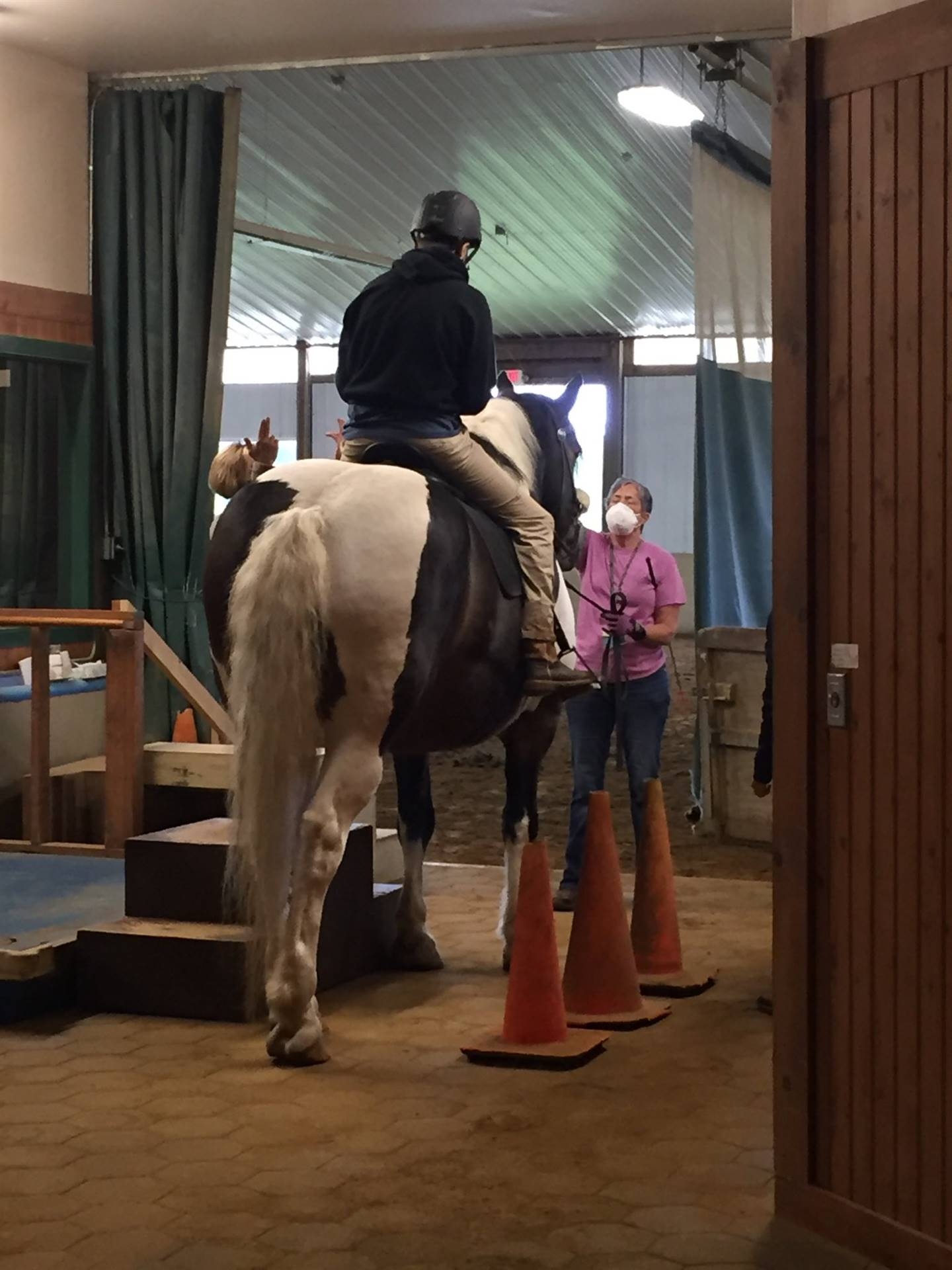 Gaitway High School Students enjoy therapeutic horse riding generously provided by Fieldstone Farm!