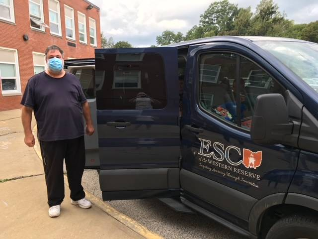 Our van driver is ready to transport a few of our SAIL students home