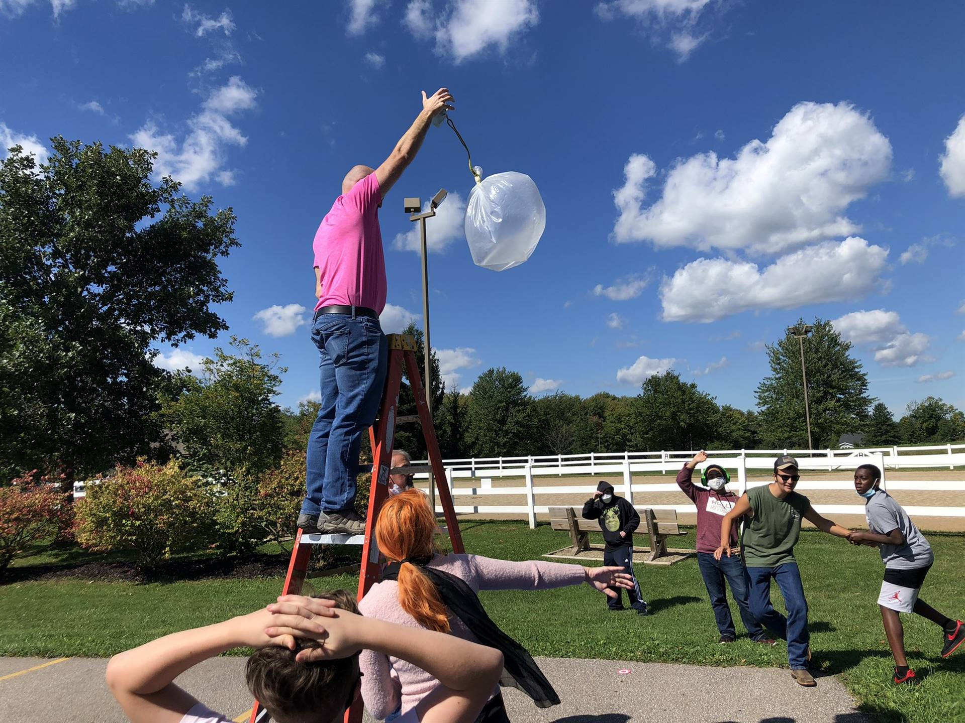"""Gaitway Students prepare for an """"Egg Drop Challenge"""" during a PBL afternoon activity!"""