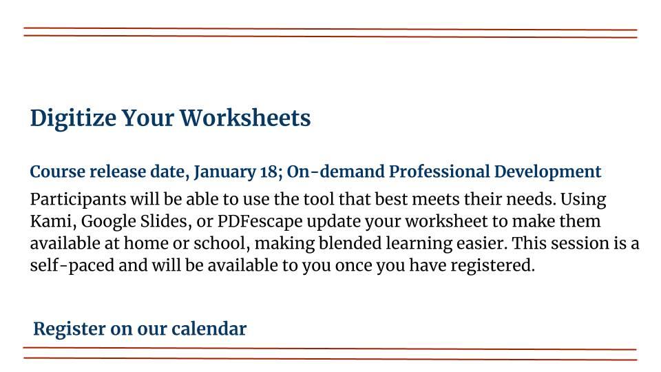 Digitize Your Worksheets