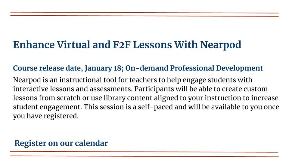 Enhance Virtual and F2F Lessons With Nearpod