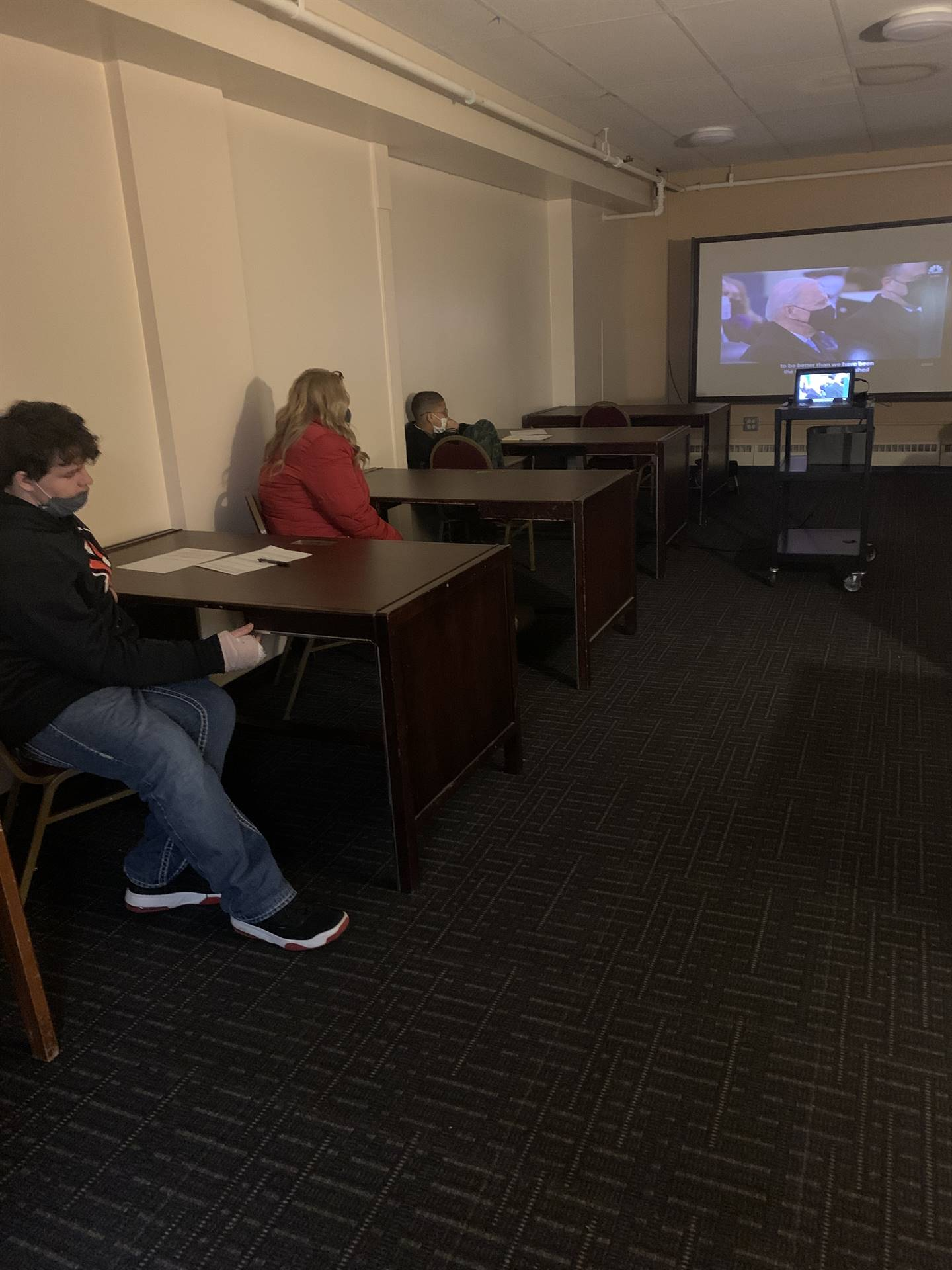 Carrington Students watched the Presidential Inauguration live stream and completed activity to rein
