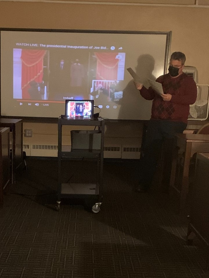Carrington Students watched the Presidential Inauguration live stream and completed activity to reinforce what they have learned regarding the Constitution and Preamble.