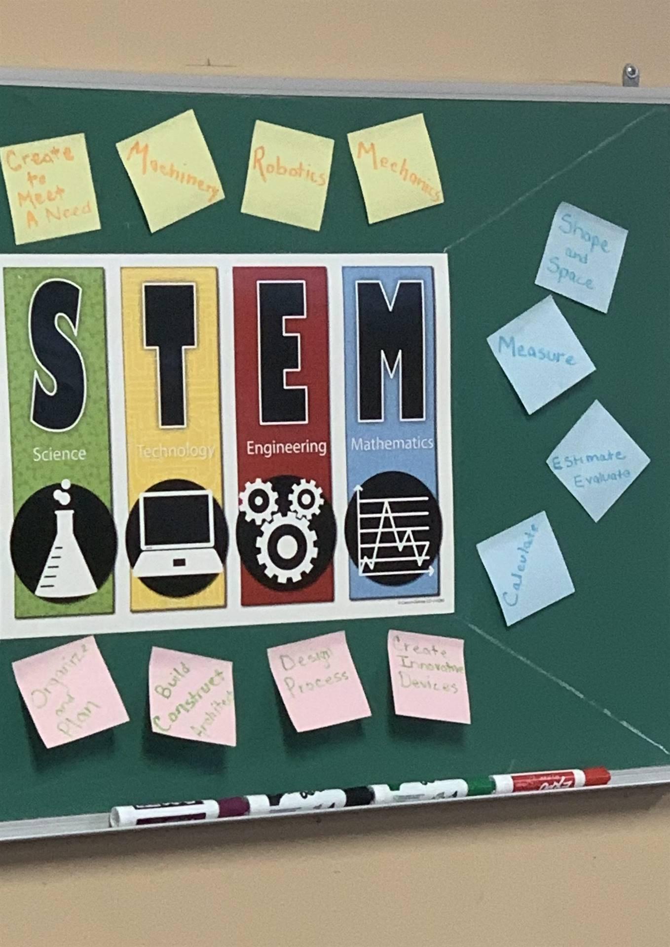 Newly created STEM room at Carrington!