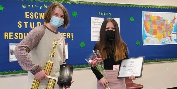 Congratulations to Matthew Dufour and Lily Waters for participating in the Tri-County Spelling Bee!
