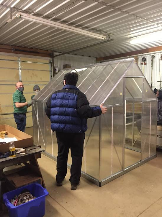Gaitway students have been building a greenhouse
