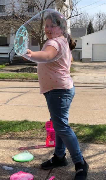 Latchkey student enjoying the nice weather!