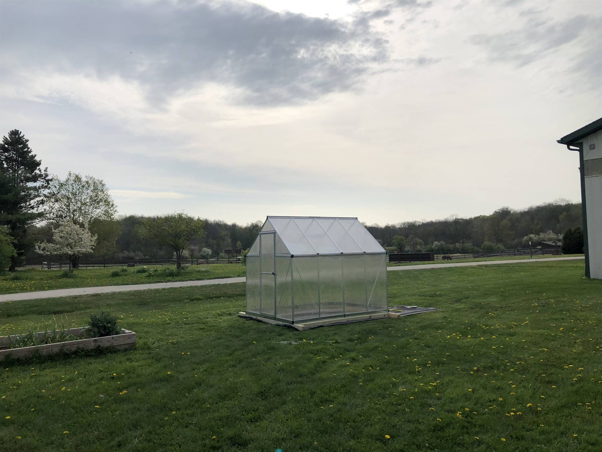 Greenhouse pictured in new location