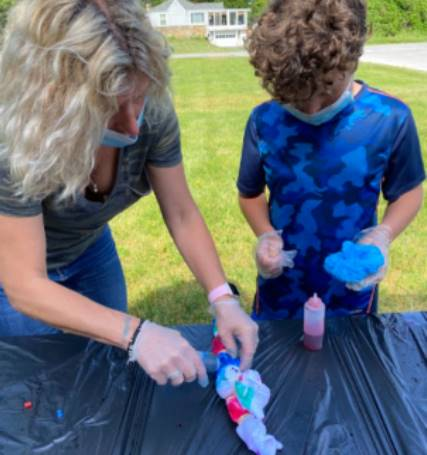 SAIL Students celebrated the end of the school year by making tie dye t-shirts