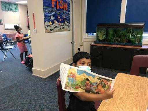 Students received a free book from the Cleveland Kids' Book Bank!