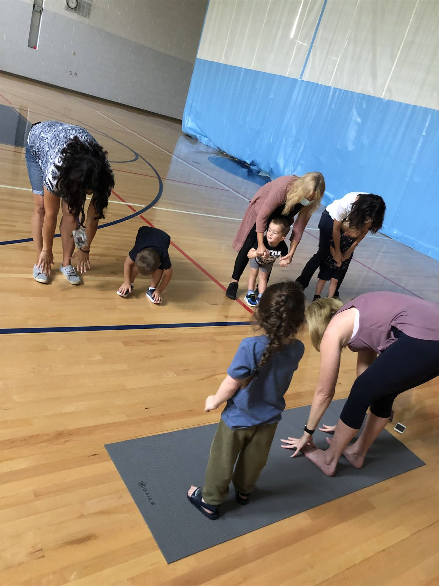Yoga at Twinkle Preschool! This yoga program is funded with a Metzenbaum Center Foundation Grant.