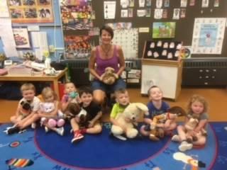 Preschoolers had a teddy bear picnic