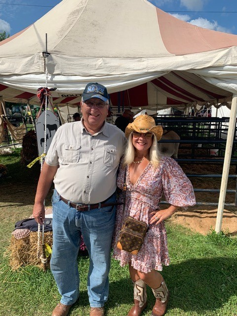 ESCWR Superintendent, Jennifer Felker and Governing Board Vice President, Steve Remias enjoying the Great Geauga County Fair