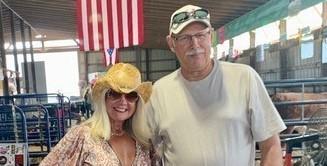 ESCWR Superintendent, Jennifer Felker and Governing Board Member, Kenneth Burrnett enjoying the Great Geauga County Fair